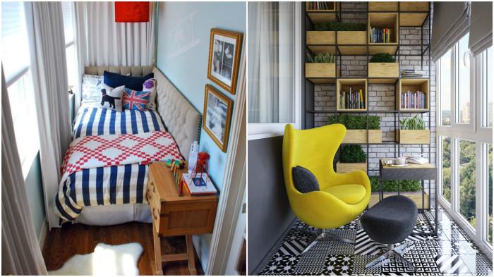 Актуальные идеи, как создать уютный домашний интерьер для балкона и лоджии.