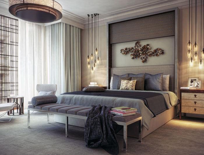 Округленные формы и гладкие поверхности являются обязательными элементами классического современного стиля.