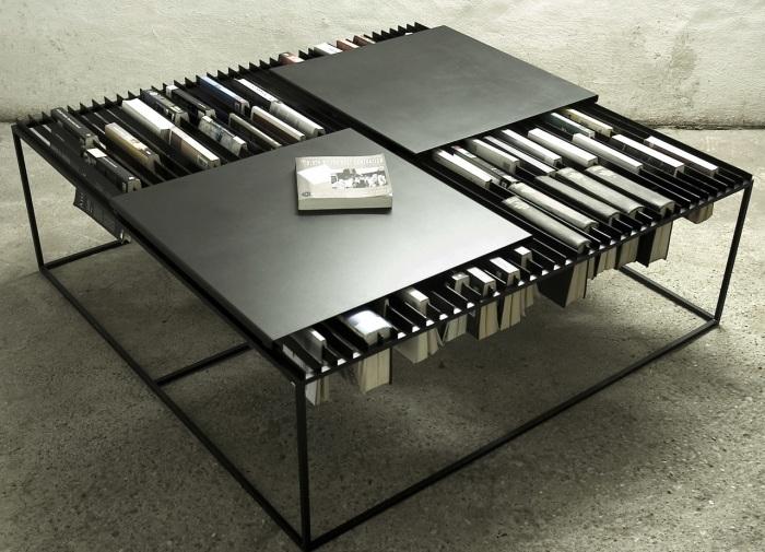 Журнальный столик в стиле хай-тек технологий для настоящих интеллектуалов и любителей чтения.