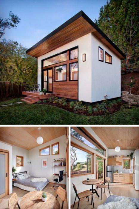 Это небольшой деревянный загородной домик неприметный снаружи, но стоит зайти внутрь, и от удивления отвисает челюсть.