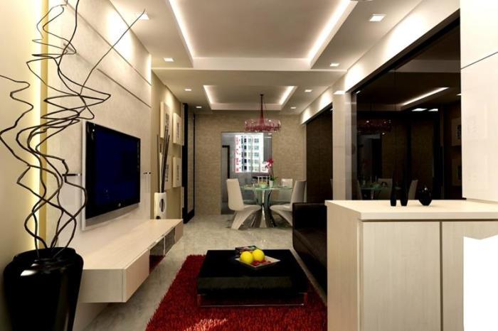 Отличный интерьер маленькой гостиной комнаты, который придется вам по вкусу.