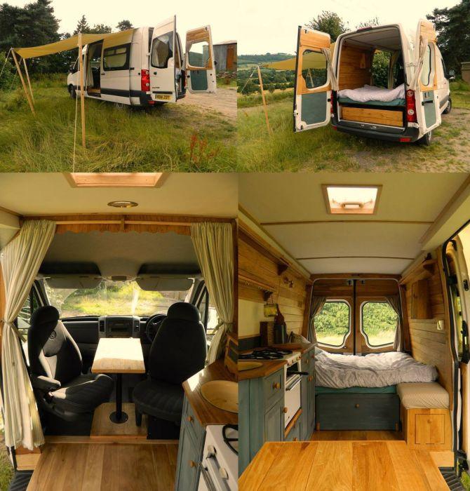 Отправляться на отдых лучше на специальном фургоне, в котором есть всё самое необходимое для продолжительного и комфортного отдыха.