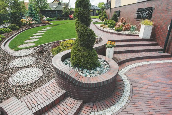 Правильный подбор цвета кирпича и дополнительных декоративных элементов - залог успешного оформления садового участка.