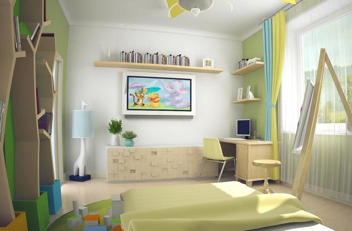 Детская комната, выполненная в современном стиле, всегда нравится и детям, и подросткам.