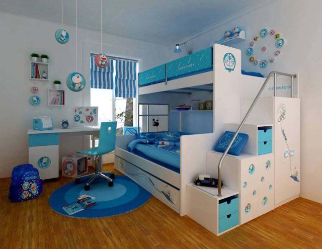 Современный интерьер детской спальной комнаты, который придётся по вкусу даже профессиональным дизайнерам.