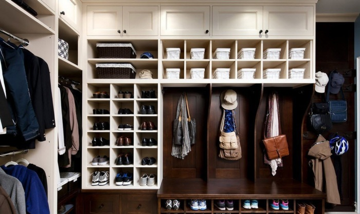 Мужской гардеробный шкаф