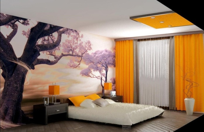 Современная спальная комната, которая поражает своей оригинальностью и стилевым многообразием.