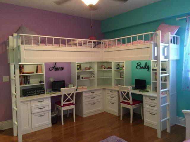 Правильная расстановка мебели в детской комнате для двоих детей с учетом планировки помещение позволит идеально зонировать пространство.