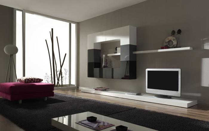 Спокойное цветовое решение визуально расширяющее пространство гостиной.