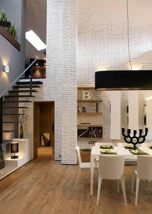 Просторная гостиная комната, которая удачно совмещена с обеденной зоной - отличное решение для любителей вечерних посиделок.