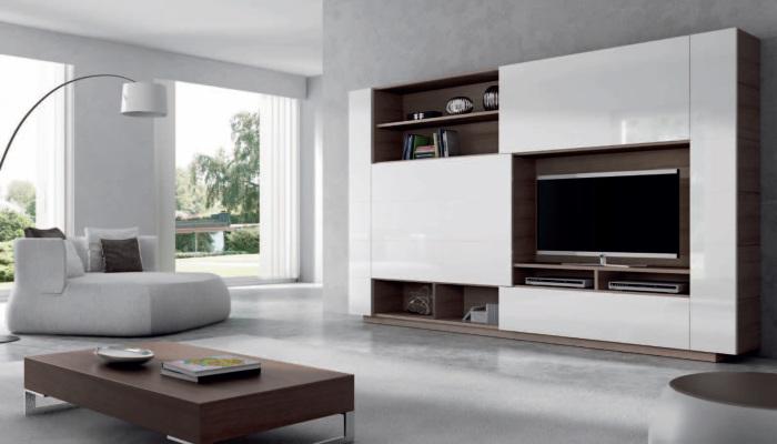 Модульная мебель в светлых тонах станет отличным решением для гостиной комнаты.
