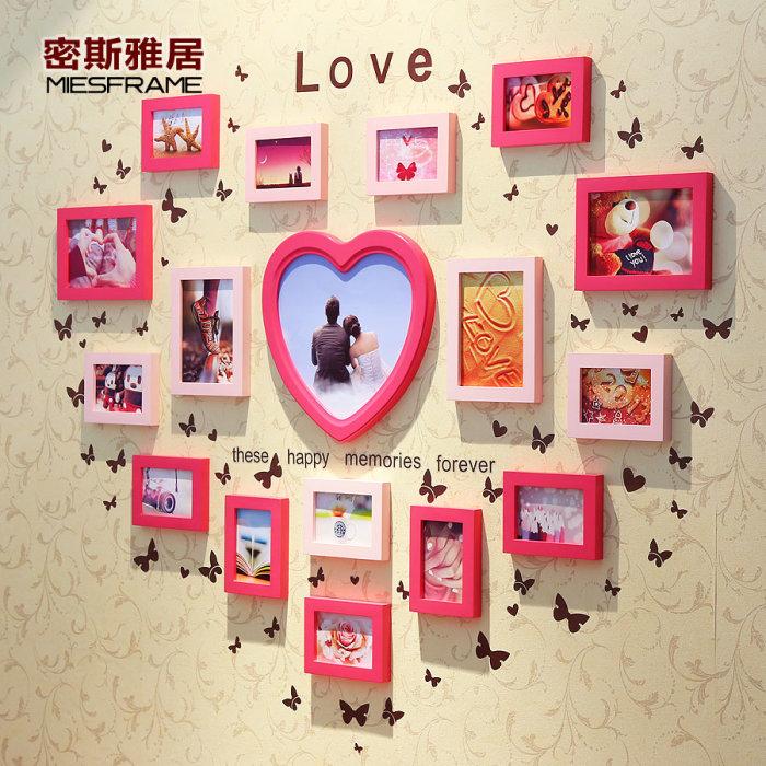 Настенная галерея в форме сердца, которая всегда будет напоминать о самых счастливых и тёплых моментах в жизни.