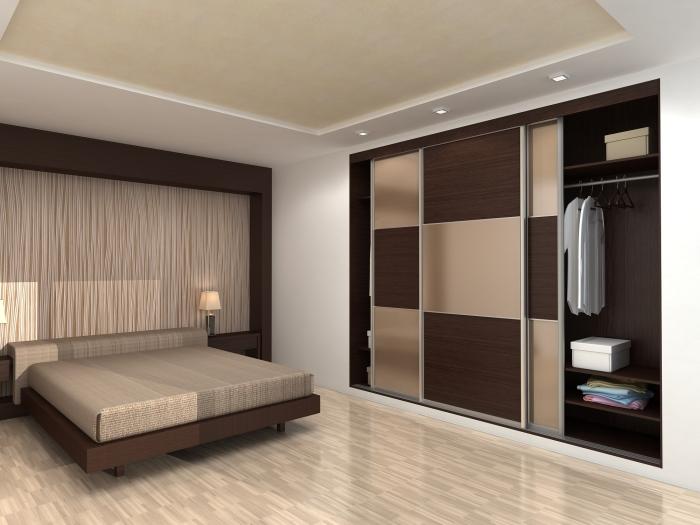 Нескучный шкаф-купе благодаря своей малогабаритности поможет выгодно обыграть пространство.