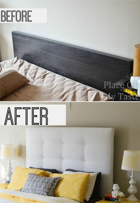 Отличное решение, которое подскажет вам как преобразить изголовье кровати и сделать его более современным.