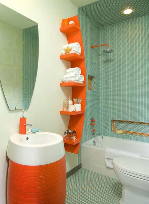 Акцентные элементы в ванной комнате — особый прием в интерьере помещения гарантирует прекрасный результат.