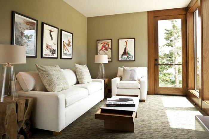Светлая гостиная комната с панельными окнами - отличное решение для визуального увеличения пространства.