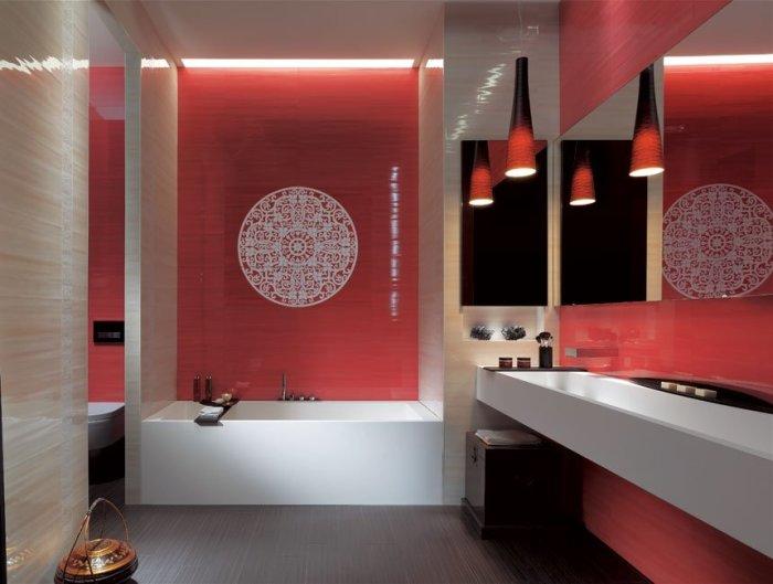 Ванная комната в загадочном и утонченном восточном стиле - оригинальное и современное решение.