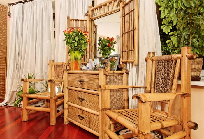 Потрясающие примеры использования бамбука в интерьере.