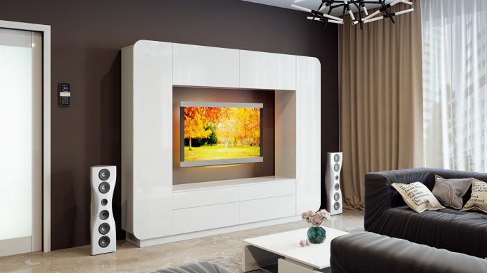 Главные отличия между модульными системами проявляются не в самой конструкции, а в наличии дополнительных элементов и в общем виде мебели.