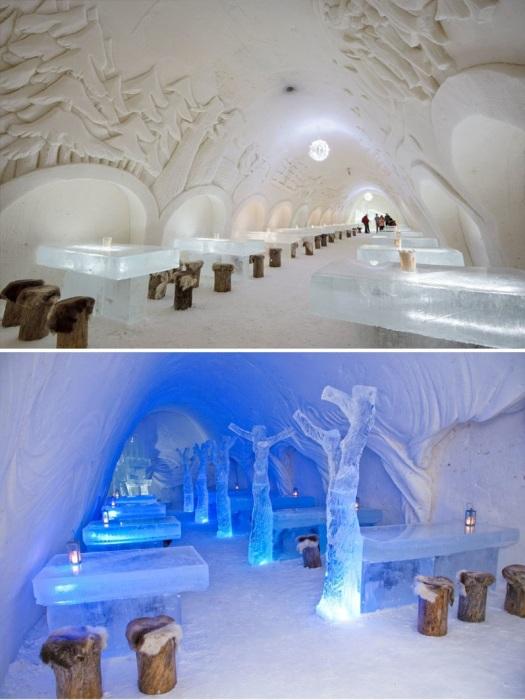 Ресторан «The Snowcastle Of Kemi» в самой большой в мире снежной крепости Kemin LumiLinna».