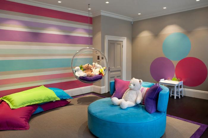 В любом интерьере детской комнате важно учесть все нюансы использования подвесных кресел.