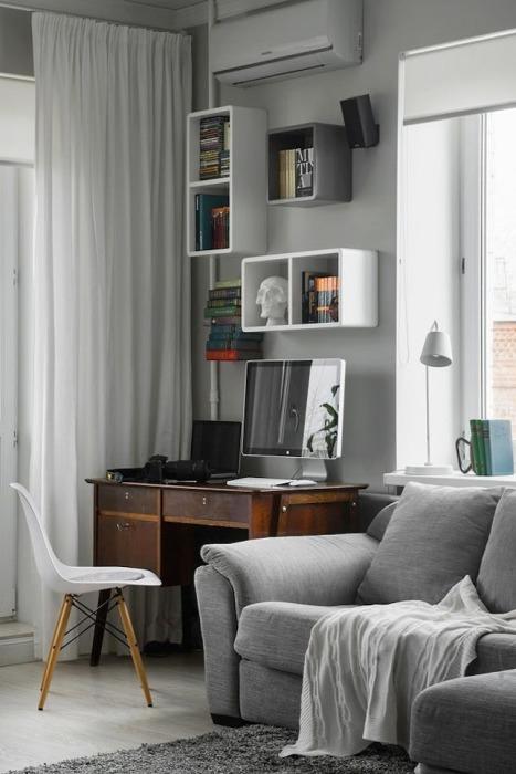 Настенные полки позволяют сэкономить пространство в любом малогабаритном помещении.