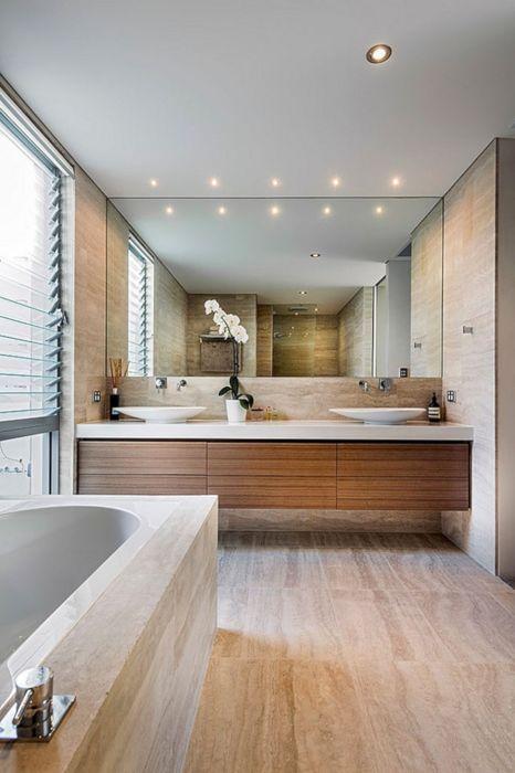 Песочный цвет - мягкий и привлекательный оттенок, который отлично подойдет для любой современной ванной комнаты.
