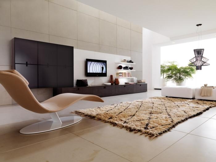Cтрогие формы и линии будут гармонично вписываться практически в любой интерьер современной гостиной.