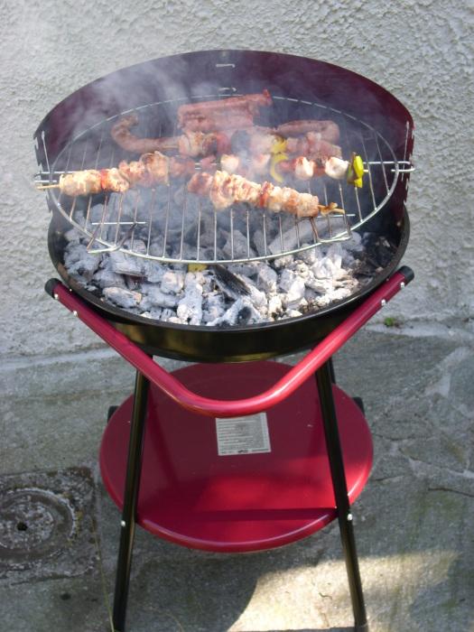 Небольшая переносная установка для приготовления мясных блюд.