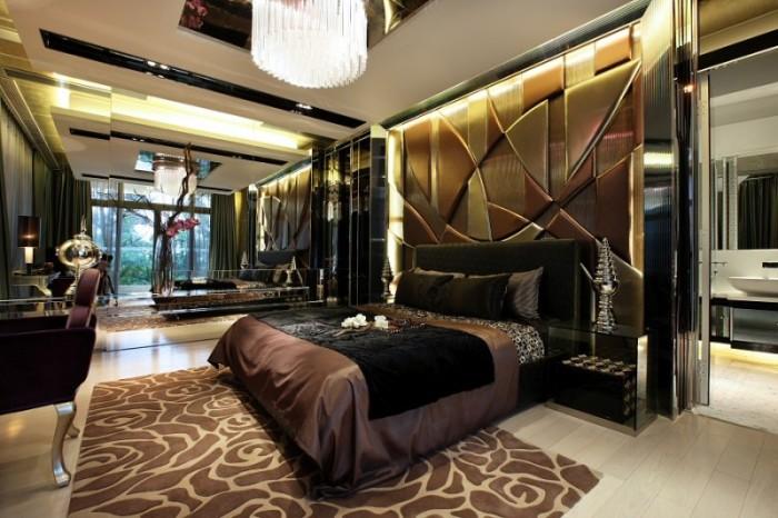 Спальная комната, идеально оформленная по современным трендам дизайна.