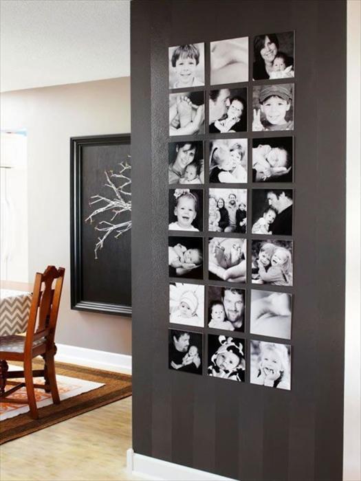 Галерея в современном интерьере - интересная идея для настенного декора.