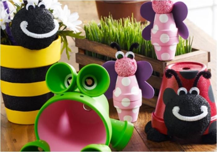 Отличный проект создания красивых игрушек из глиняных горшков.