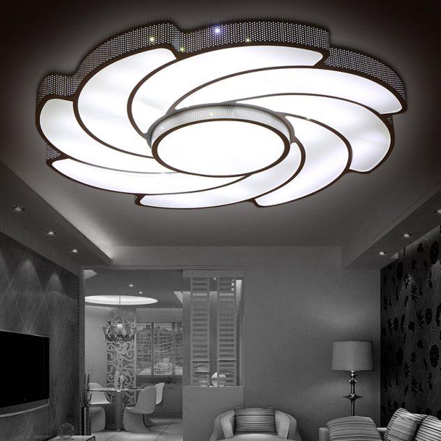 Дизайн потолочного светодиодного светильника, который добавляет сияния и придает интерьеру комнаты неповторимый вид.