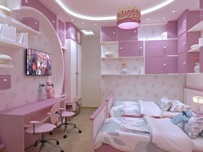 Мягкая розовая гамма как одно из лучшего решения для детской комнаты