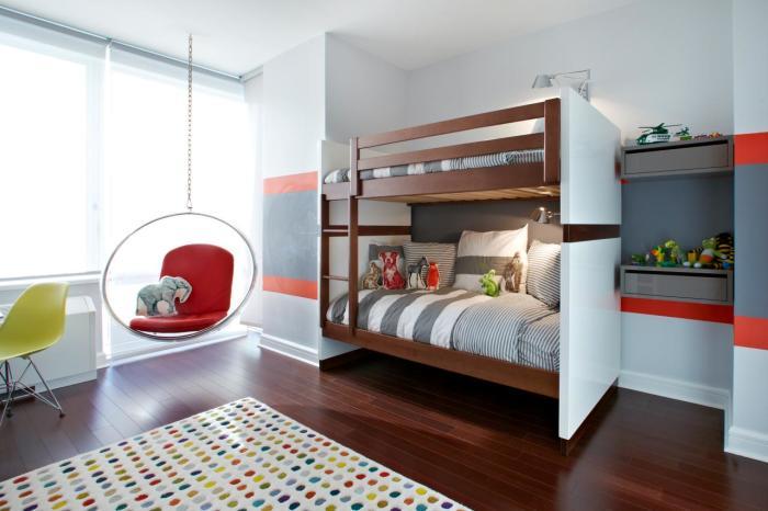 Двухъярусная кровать в современном стиле, которая перенесёт в настоящую сказку.