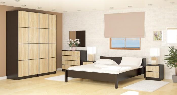 Модульная мебель для спальной комнаты в современном стиле.