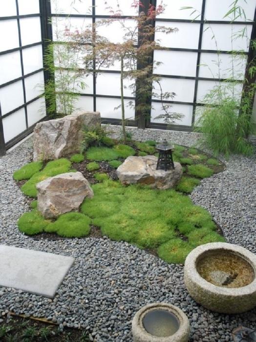 Зимний сад в японском стиле для настоящих ценителей восточной культуры и философии.