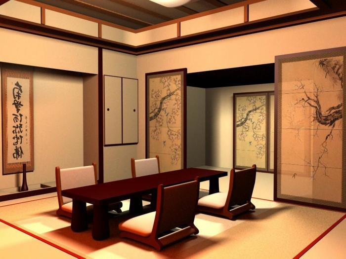 Современная японская стилистика отличается от традиционных мотивов оформления жилища.