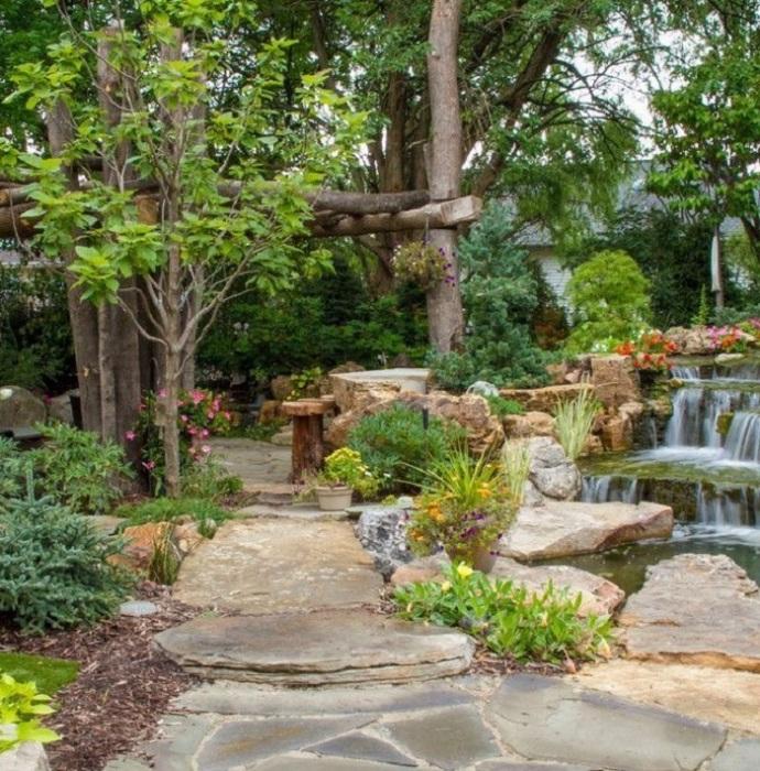 Правильное сочетание всех составных частей ландшафтного дизайна поможет создать идеальную природную атмосферу в саду.