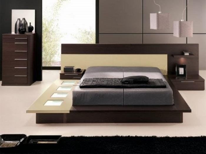 Отличный современный интерьер спальной комнаты, который придется любому по вкусу.