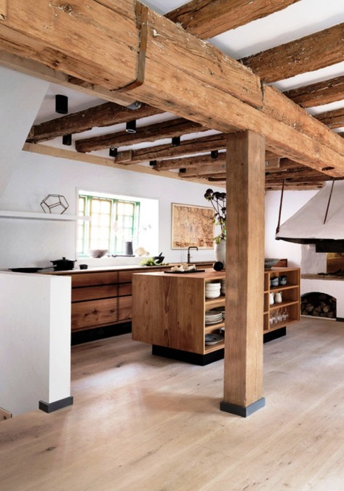 Идеально подходящая для загородного дома кухня.