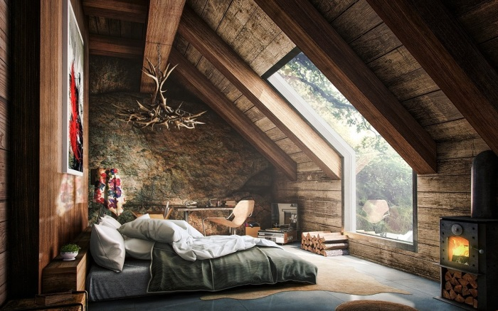 Просто сказочная веранда с большим окном для счастливого и безмятежного времяпровождения.