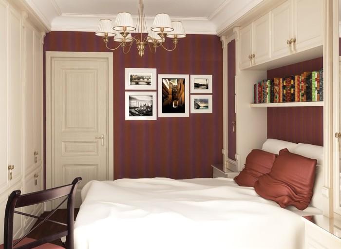 Коричневый цвет можно смело использовать в современном дизайне спальни.