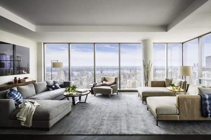 Апартаменты, в которых применены современные тенденции декорирования и визуального расширения пространства.
