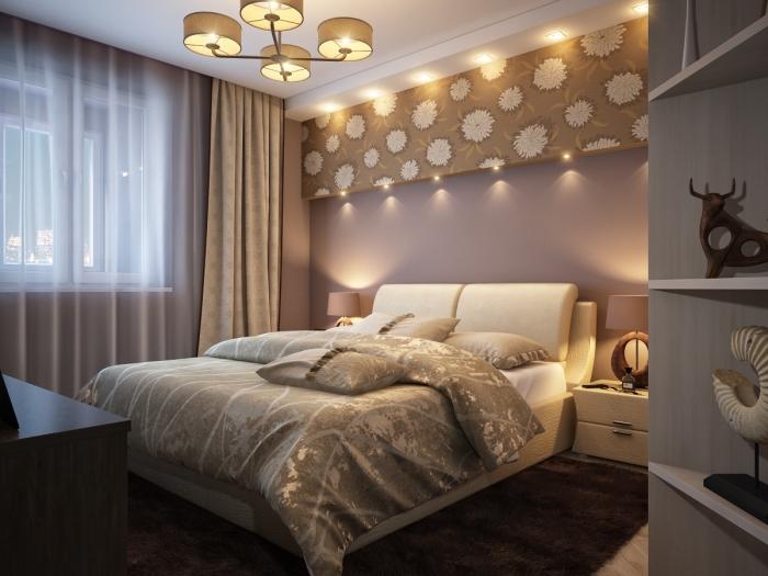 Правильно подобранное освещение и пастельные цвета, помогут создать романтическую обстановку.