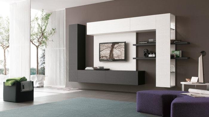 Современный стиль может превратить гостиную комнату в необычное и сказочное пространство.