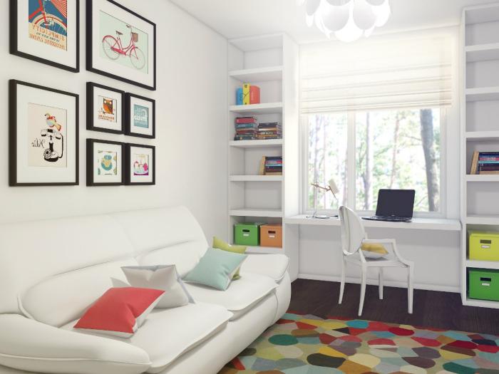 Светлая детская комната – это отличное решение для малогабаритной квартиры.