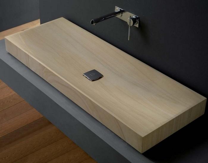 Классическая раковина, созданная из дерева, которая понравится каждому.