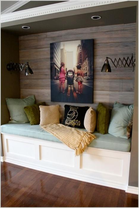 Стена из деревянных реек - отличное решение для всех любителей экостиля.