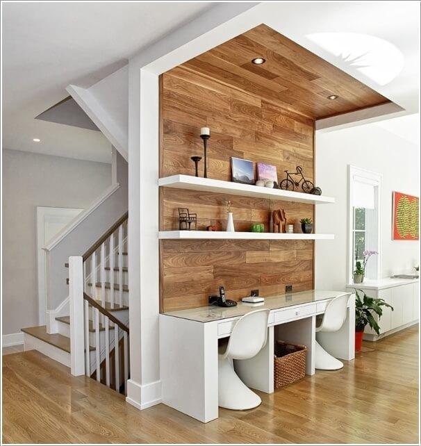 Для функционального разделения пространства можно использовать натуральную древесину, которая отлично впишется в любой современный интерьер.